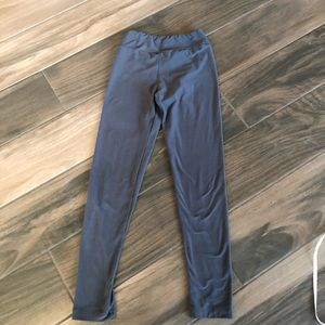 Lularoe one size tween solid gray leggings